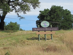 sign for yorkville highlands appellation